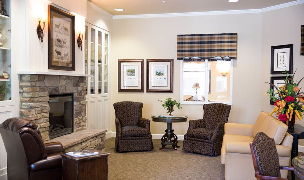 Cardinal Court Alzheimer's Special Care Center Fireplace Lounge