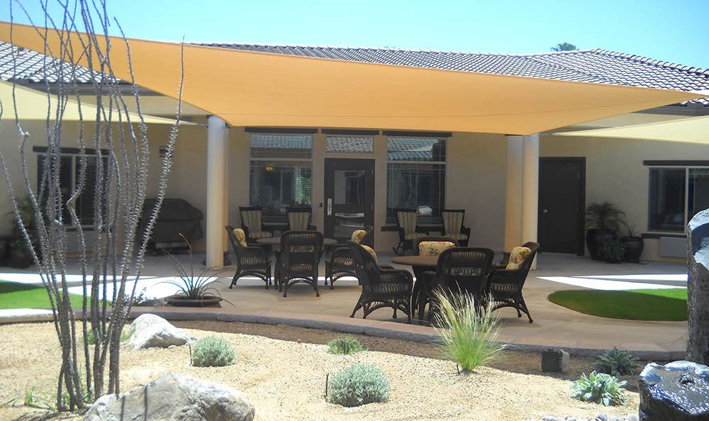 Patio at Caleo Bay Alzheimer's Special Care Center