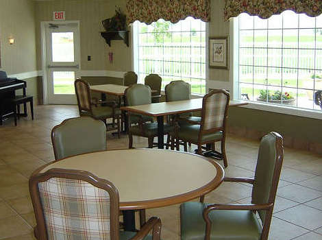 Community dining hall at Aspen Ridge Alzheimer's Special Care Center in Grand Junction