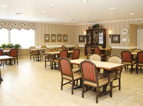Dinning room at  Barathaven Alzheimer's Special Care Center