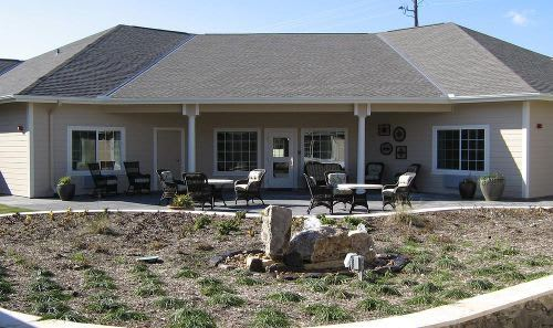 Court Yard at Cedar Ridge Alzheimer's Special Care Center in Cedar Park