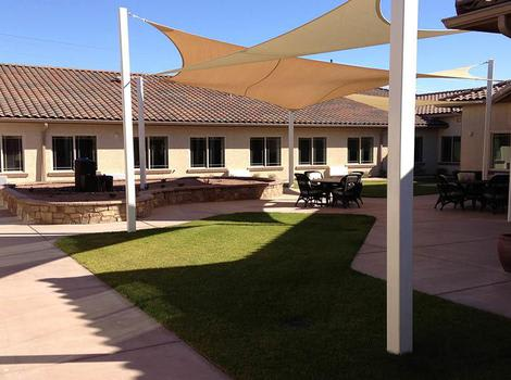 Courtyard in Copper Canyon Alzheimer's Special Care Center