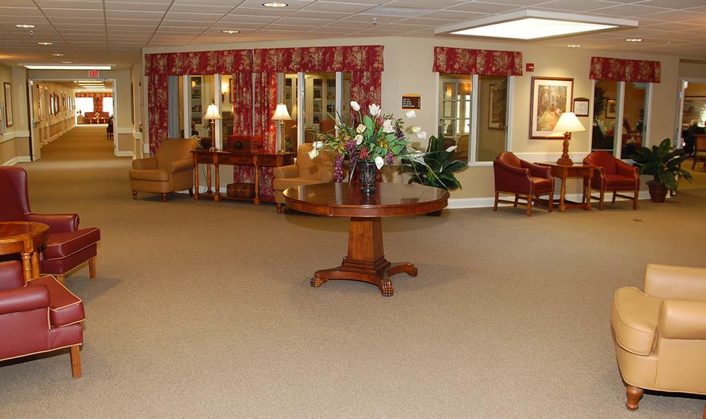 Lobby of Glen Oaks Alzheimer's Special Care Center in Urbandale, IA