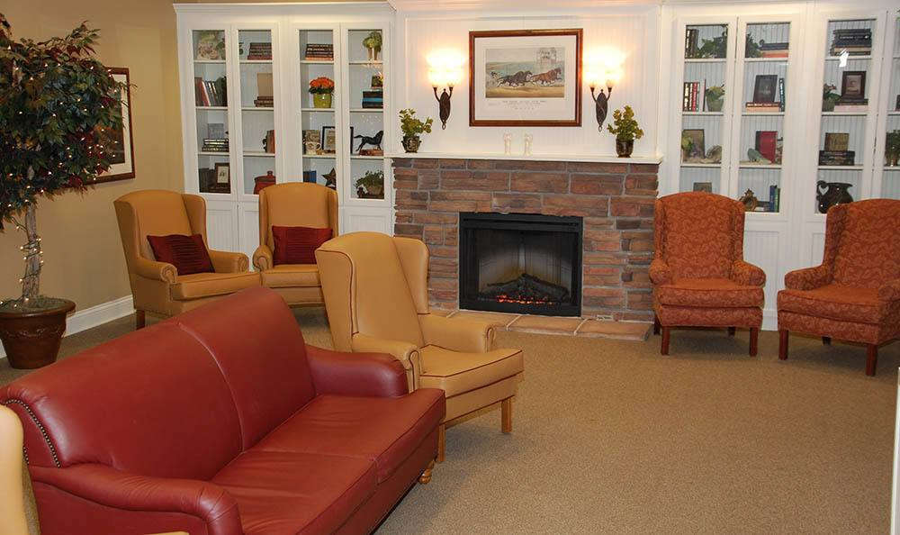 reading lounge at Glen Oaks Alzheimer's Special Care Center