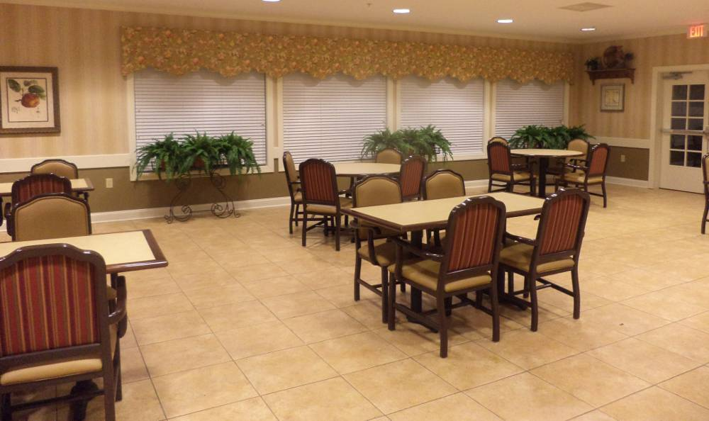Dining room at Grand View Alzheimer's Special Care Center