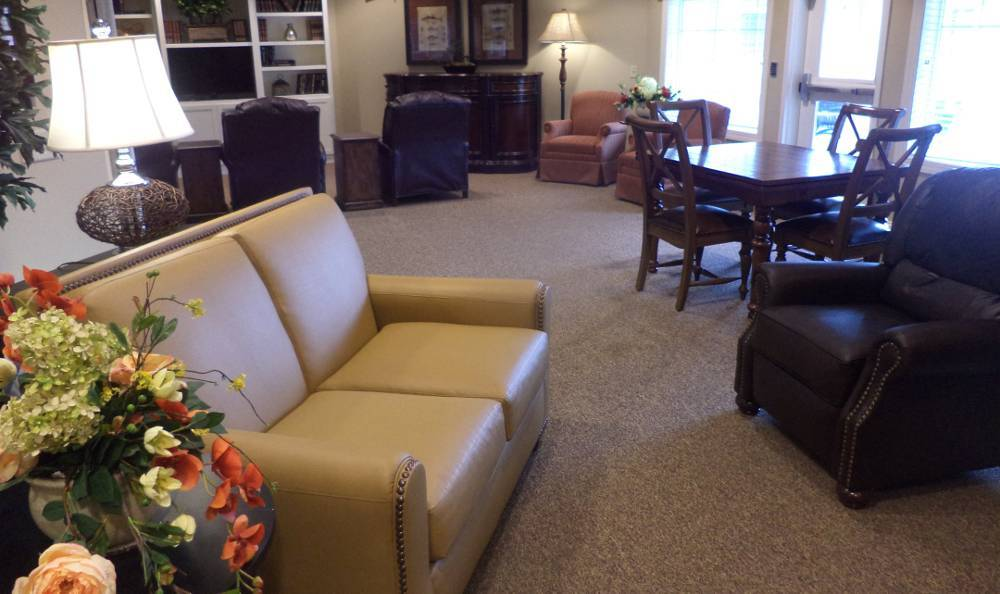 Spacious living room to share with our residents at Grand View Alzheimer's Special Care Center