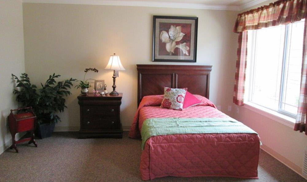 Bedroom at High Plains Alzheimer's Special Care Center in Lincoln