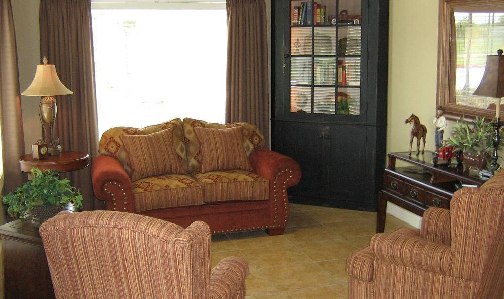 Comfy couches at Hudson Creek Alzheimer's Special Care Center