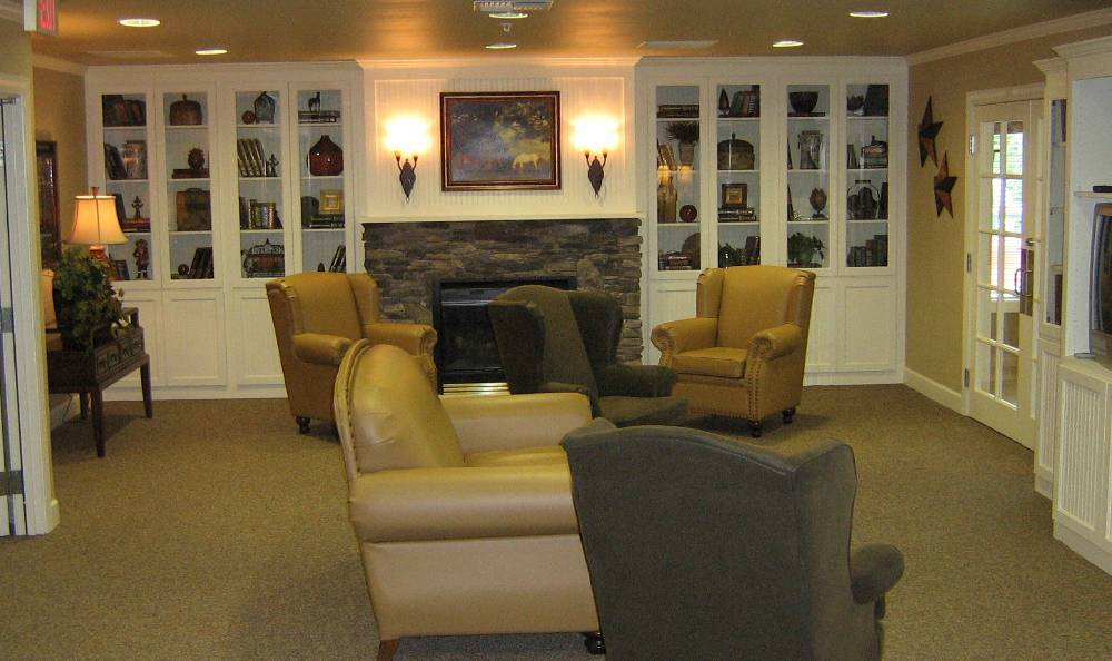 Living room at Hudson Creek Alzheimer's Special Care Center