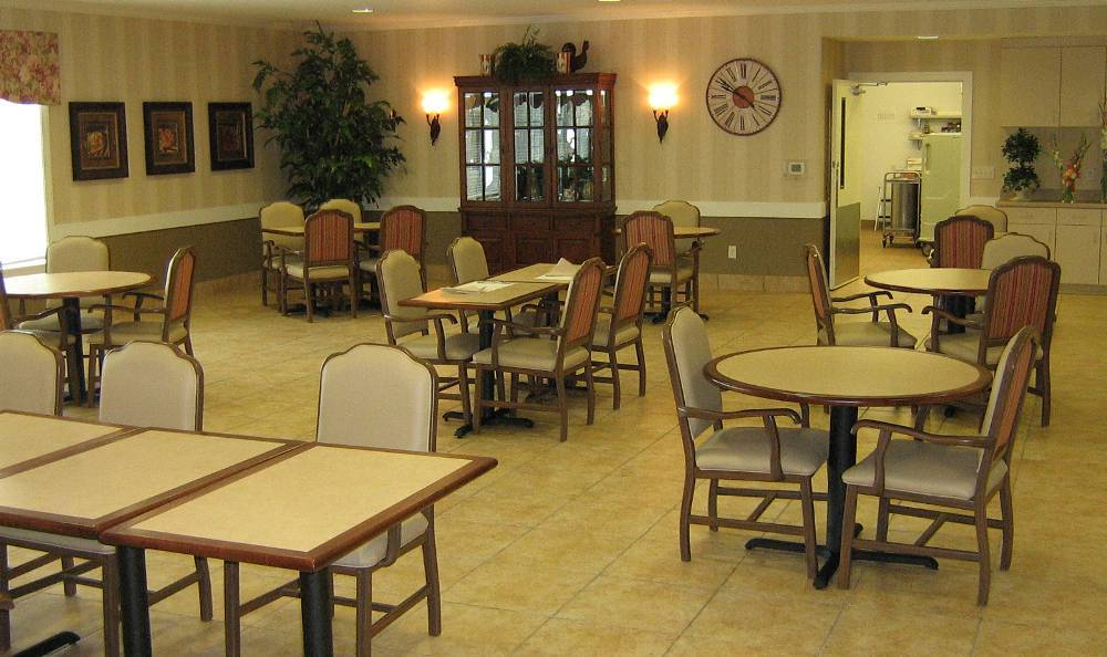 Dinning room for out residents at Hudson Creek Alzheimer's Special Care Center
