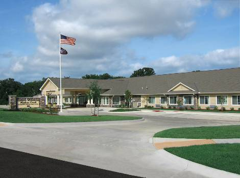 Exterior view of Hudson Creek Alzheimer's Special Care Center at Bryan, TX