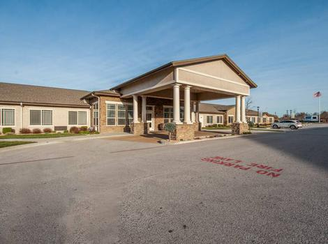 Exterior view of our installations and our parking lot at Maple Wood Alzheimer's Special Care Center