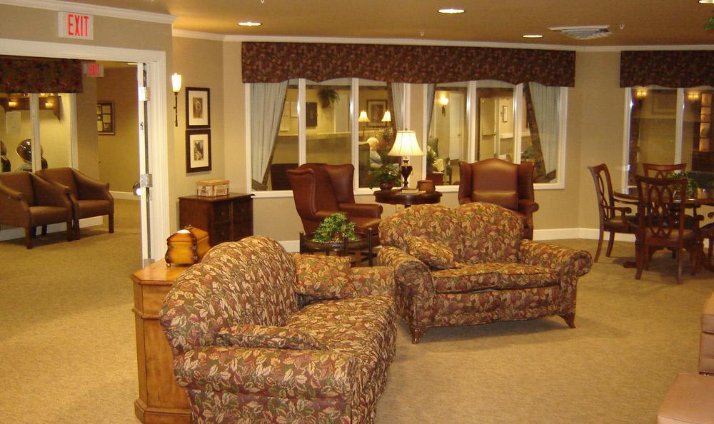 clubhouse meeting area at Mill Creek Alzheimer's Special Care Center in Springfield, IL