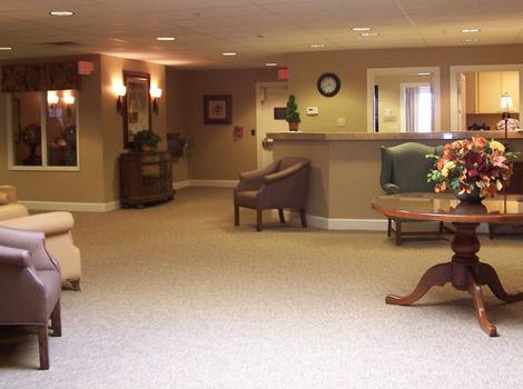 clubhouse interior at Mill Creek Alzheimer's Special Care Center in Springfield, IL