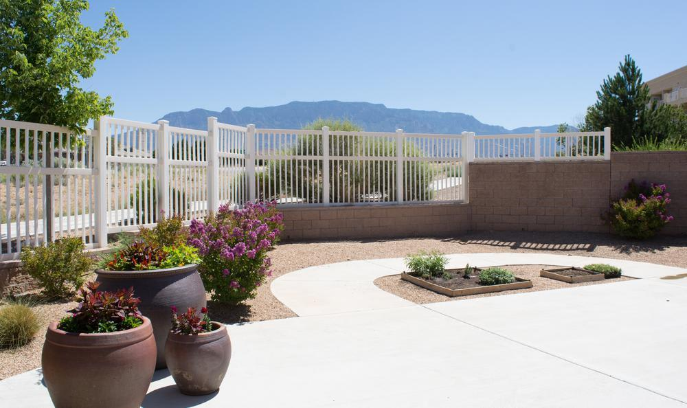 backyard at North Ridge Alzheimer's Special Care Center in Albuquerque, NM