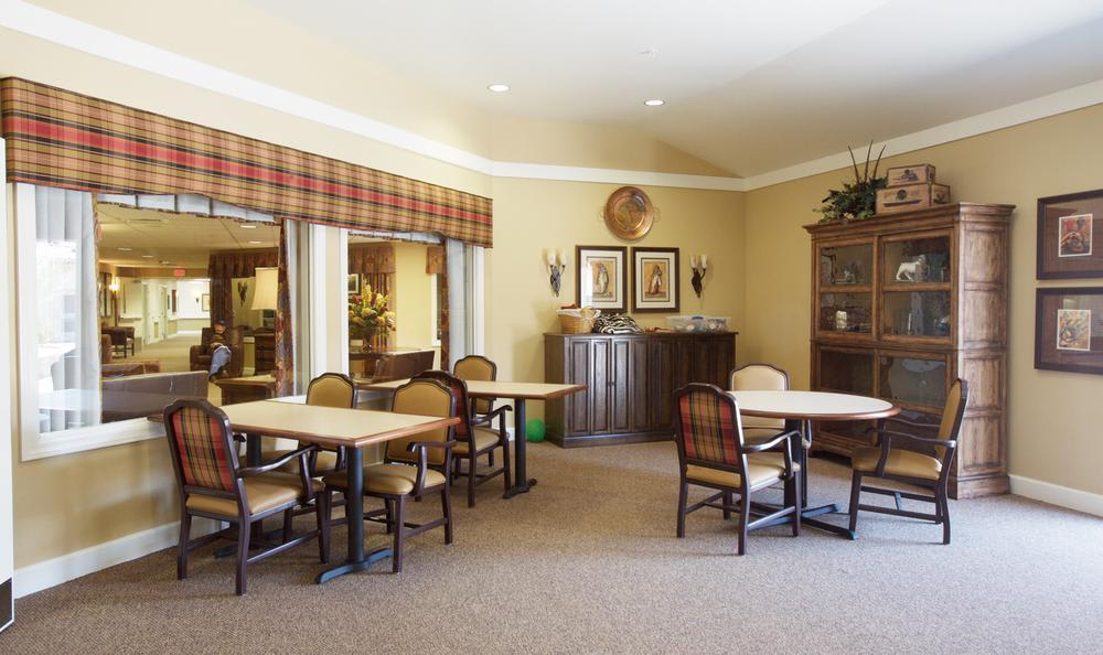 dining area at North Ridge Alzheimer's Special Care Center in Albuquerque, NM