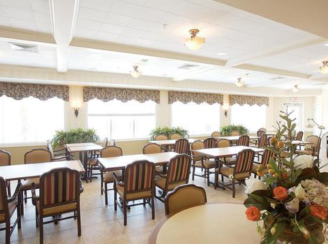 dining hall at North Ridge Alzheimer's Special Care Center in Albuquerque, NM