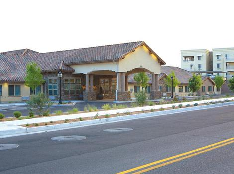 exterior view from street at North Ridge Alzheimer's Special Care Center in Albuquerque, NM