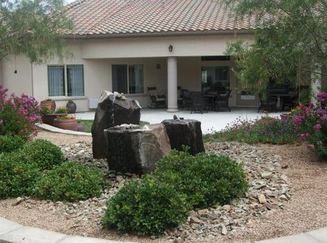 rocky garden at North Ridge Alzheimer's Special Care Center in Albuquerque, NM