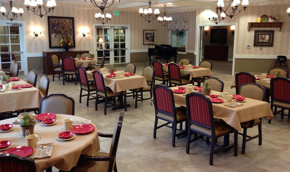 Prairie Meadows Alzheimer's Special Care Center's Dining Area in Omaha
