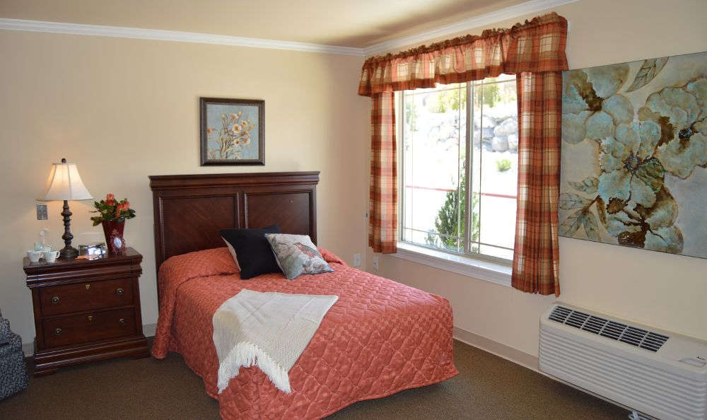 Bedroom at Stone Valley Alzheimer's Special Care Center in Reno