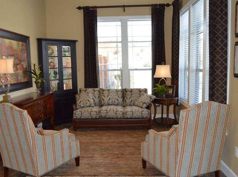 Apartments Living Room at Stone Valley Alzheimer's Special Care Center in Reno