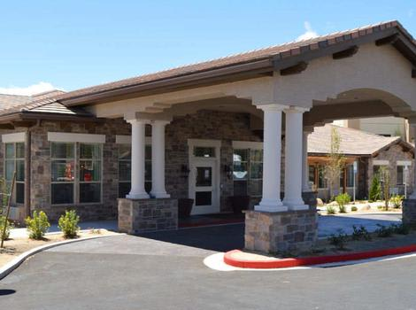 Entrance at Stone Valley Alzheimer's Special Care Center in Reno