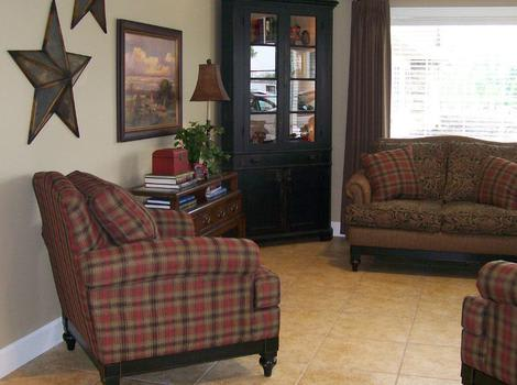 luxurious living room at Sugar Creek Alzheimer's Special Care Center