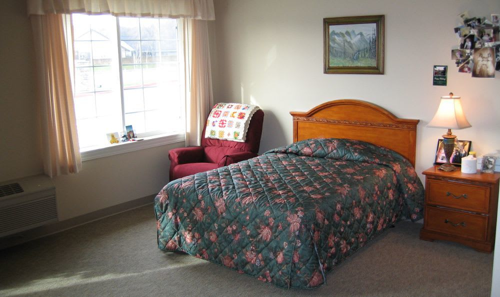 Bedroom at Willow Springs Alzheimer's Special Care Center