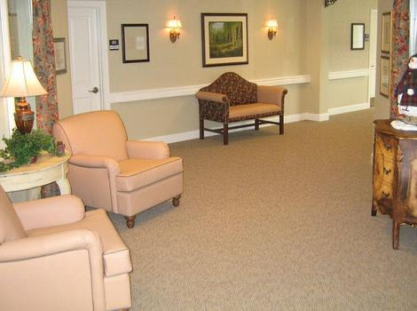 Living room at Willow Springs Alzheimer's Special Care Center