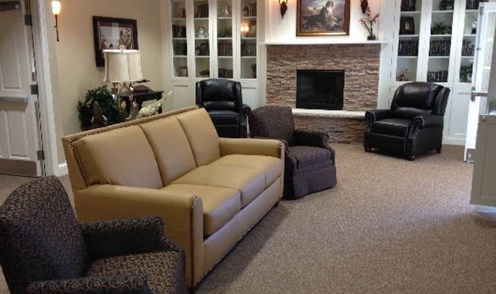 Beautiful living room at Arbor Trace Alzheimer's Special Care Center