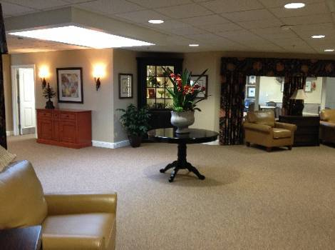 Living room at Arbor Trace Alzheimer's Special Care Center in London, Ontario