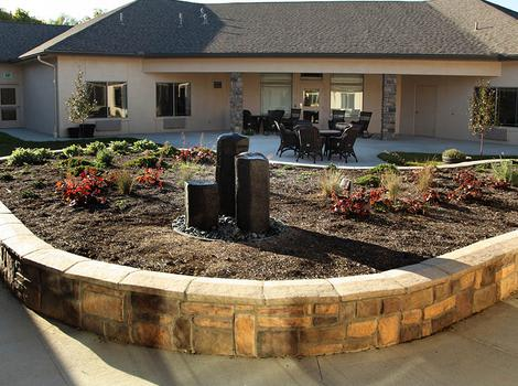 Glenwood Alzheimer's Special Care Center Patio In Dublin OH