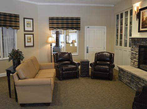 Walnut Creek Alzheimer's Special Care Center Fireplace Lounge