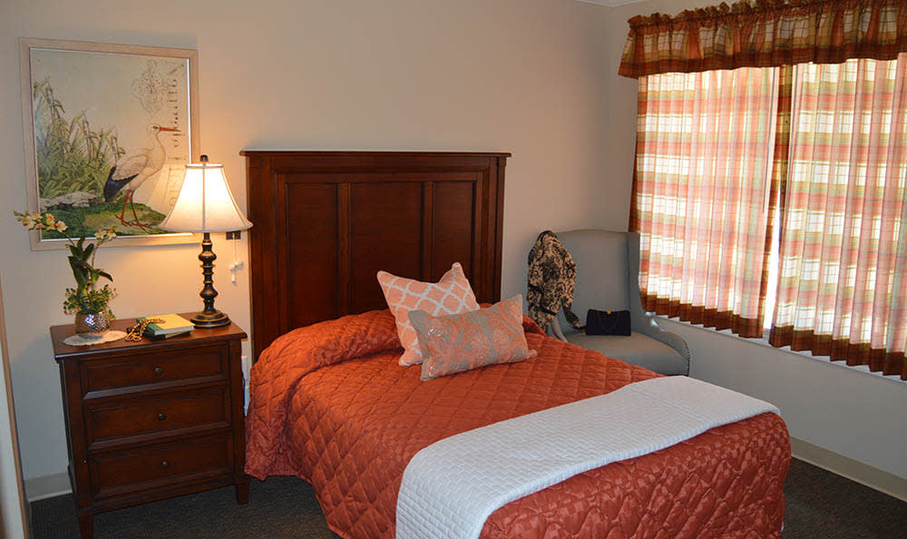 Bedrooms at Walnut Creek Alzheimer's Special Care Center in Evansville, IN