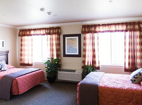 Shared Room in Evans at Marshall Pines Alzheimer's Special Care Center