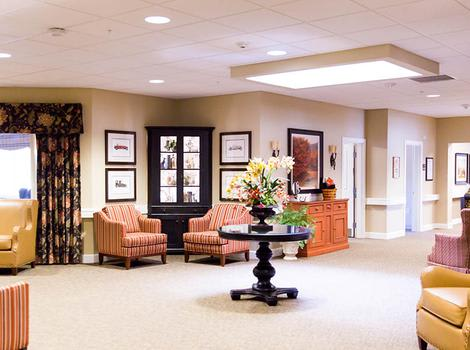 Interior Commons of Marshall Pines Alzheimer's Special Care Center