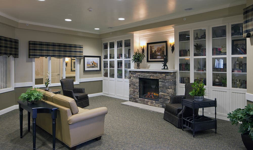 Hearth Lounge At The Springs of Vernon Hills Alzheimer's Special Care Center