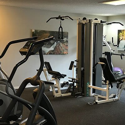 Fitness center at Bridge at Sterling Springs in Austin