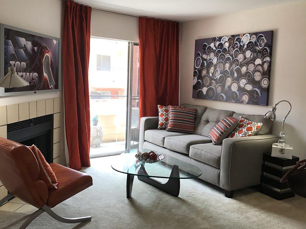 Living room option at Bridge at Sterling Springs