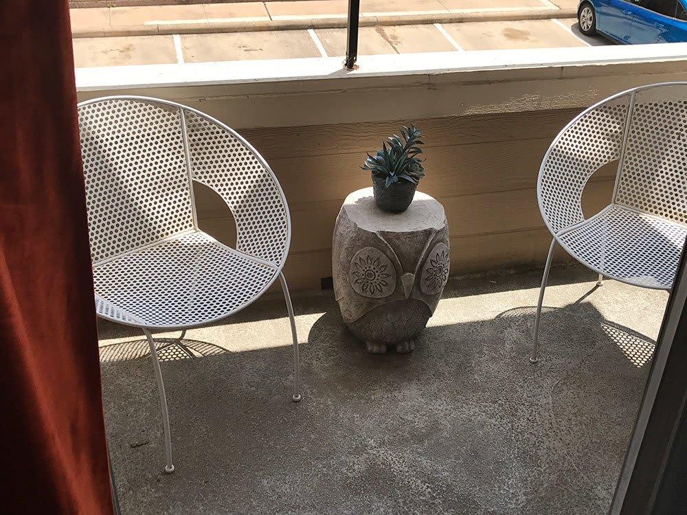 Private patio at Bridge at Sterling Springs