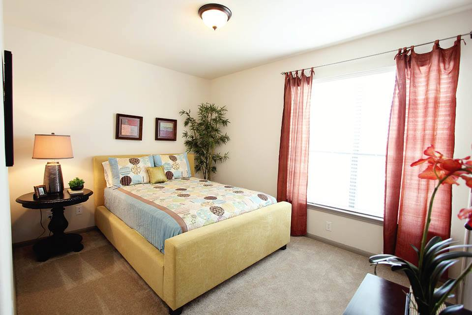 A view of the bedrooms at The Bridge at Tech Ridge
