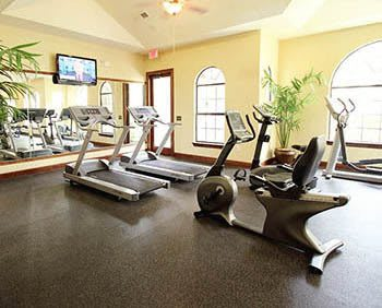 Fitness center at The Bridge at Tech Ridge in Austin