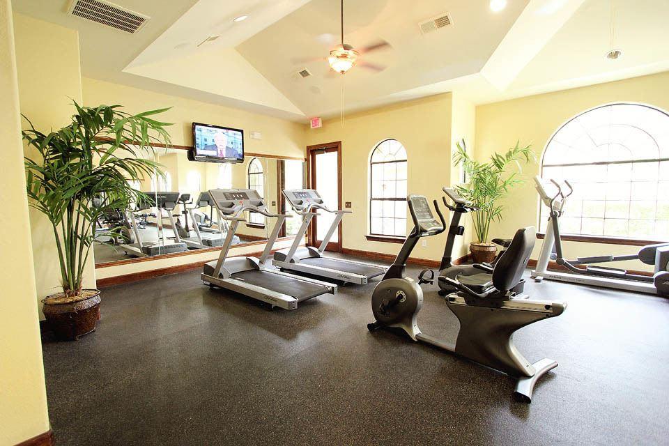 The fitness center in The Bridge at Tech Ridge