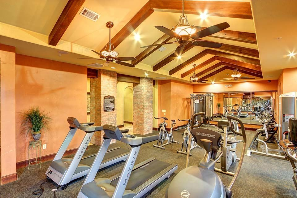 Fitness center available at The Bridge at Center Ridge