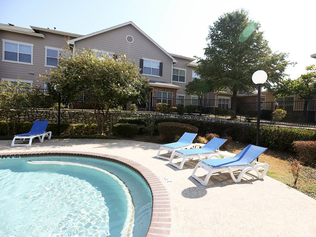 Poolside area at The Park at Summers Grove