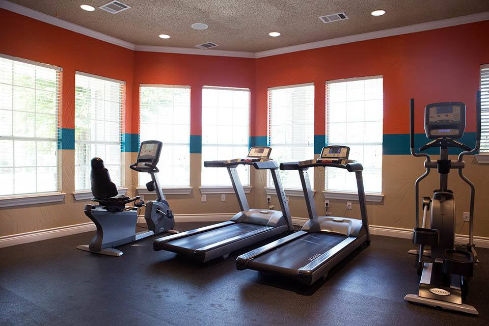 Fitness center at The Bridge at Volente