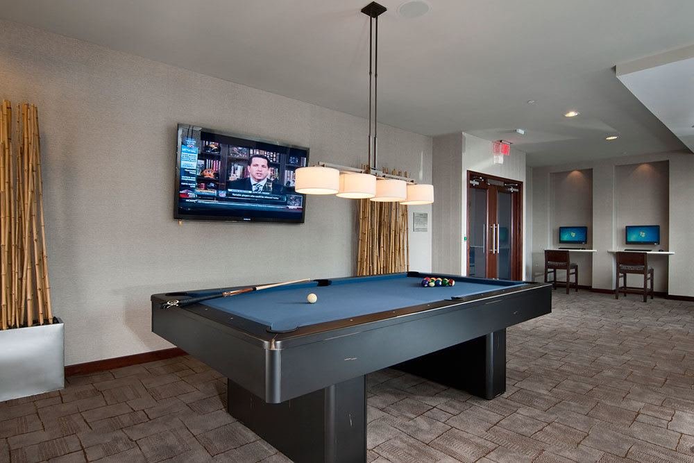 Our community clubhouse includes billiards