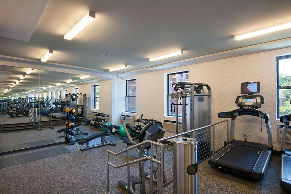 Our apartment community features a private fitness center