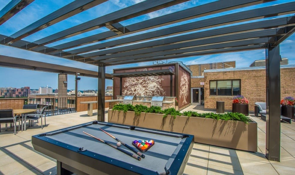 Sky deck complete with Billiards table